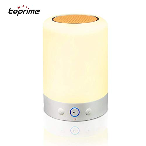 Toprime Bluetooth 4.0 Speakers, Smart Touch LED Table Lamp 7