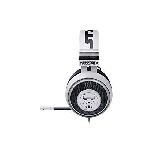 chollos oferta descuentos barato Razer Kraken Stormtrooper Edition Auriculares Gaming Compatible con Multi Plataforma con almohadillas de gel ovaladas rellenas de gel frío Plateado
