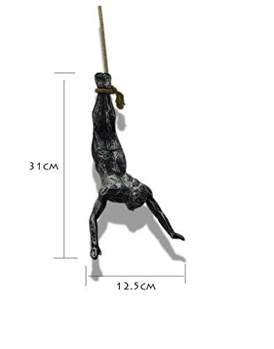 NewMultis Resin Climbing Man Wall Sculpture Handmade Climber Global Climbing View Iron Wall Mounted Art Sculpture (Figure Style# A)