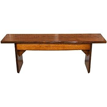 Amazon Com Hope Woodworking Live Edge Bench 4 Foot