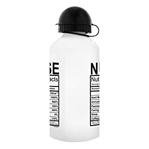 Nurse Gifts for Women Nurse Water Bottle Nutritional Facts Funny Nurse Practitioner Gifts for Nurses Gift Aluminum Water Bottle with Cap & Sport Top Nurse