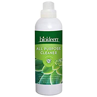 Biokleen All Purpose Cleaner - 32 Gallons - Super Concentrated, Eco-Friendly, Non-Toxic, Plant-Based, No Artificial Fragrance, Colors or Preservatives, 32 Ounces