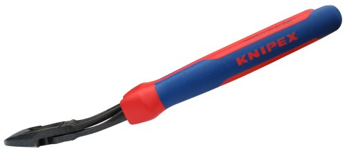 Knipex 7422250SBA 10-Inch High Leverage Angled Diagonal Cutters - Comfort ()