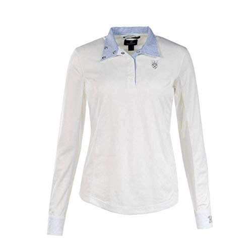 Horze Blaire Women's Long Sleeve Show Shirt- White (10)