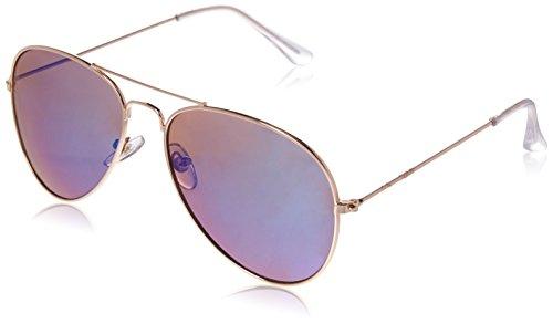 Foster Grant Women's Polo Polarized Aviator Sunglasses, Gold, 140 - Aviator Grant Foster Sunglasses