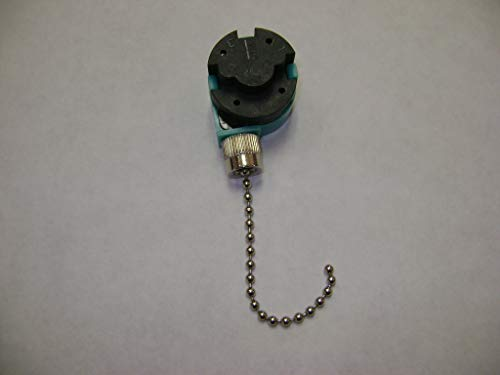 NMD BRAND 3 SPEED 4 WIRES CEILING FAN PULL SILVER CHAIN CONTROL SWITCH FOR ALL INCLUDING HUNTER FANS 286/208
