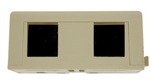 Quickport 6 Conductor Usoc Connector (Leviton 42046-IDA Surface Mount Jack Kit, 6P6C X 6P6C, 110-Style, Ivory)