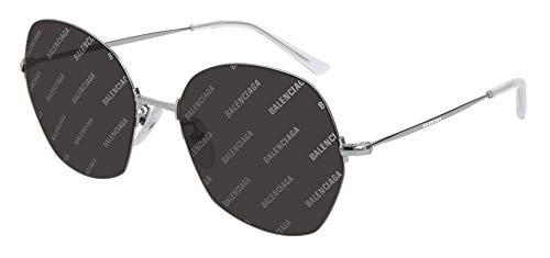Balenciaga BB0014S Sunglasses 004 Silver/Grey Mirror Lens 58 mm