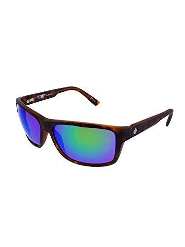 Spy Sunglasses Acrylon Scratch Resistant Lenses Rectangle Shape, Soft Matte Tortoise