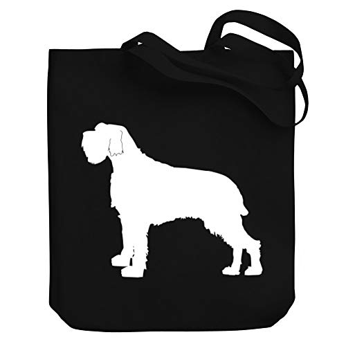 Teeburon Wirehaired Pointing Griffon SILHOUETTE Canvas Tote Bag 10.5