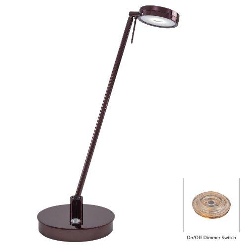 Kovacs Task Table Lamp (George Kovacs P4306-631, Georges Reading Room, 1 Light LED Table Lamp, Chocolate Chrome)
