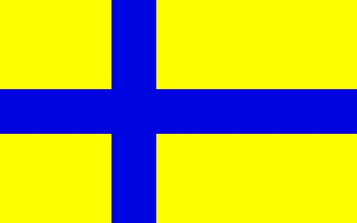 magFlags Large Flag Replacement for Image Unofficial flag of Götaland | landscape flag | 1.35m² | 14.5sqft | 90x150cm | 3x5ft - 100% Made in Germany - long lasting outdoor (100 Sqft Replacement)