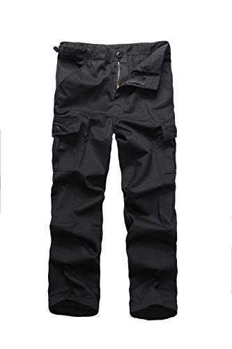 BACKBONE Boys Girls Kids Combat Army Ranger Camping Outdoor camo Cargo Pants Trousers (Size S = Waist 26