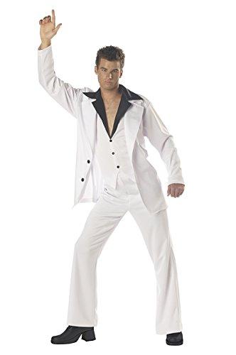 [California Costumes Men's Saturday Night Fever Costume,White/Black,Medium] (Mens Disco Costumes)