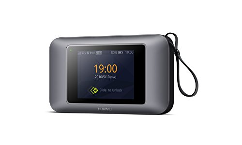 Huawei E5787s-33a 300 Mbps 4G LTE & 43.2 Mpbs 3G Mobile hotspot & port WiFi (4G LTE in Europe, Asia, Middle East, Africa & 3G globally) (Black) by Huawei