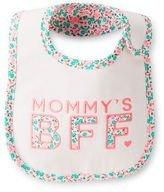 Carter's Reversible Bib ''Mommy's BFF'' Floral Teething and Feeding Bib