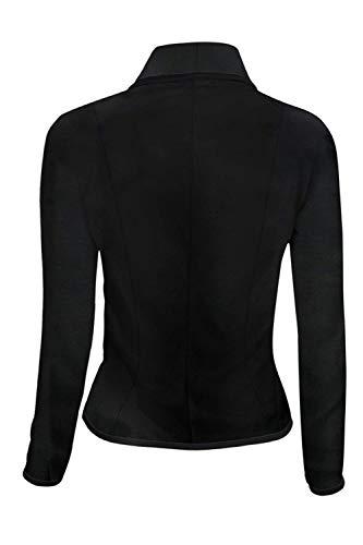 Eleganti Blazer Da Bavero Di Donna Cappotto Moda Primaverile Fit Corto Nero Lunga Camicia Manica Autunno Business Plus Tailleur Prodotto Slim Casuale Giacca Ufficio ZE87dqZ