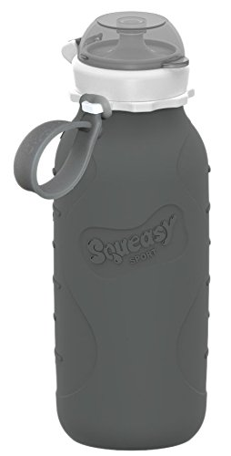 Squeasy Sport 16oz Silicone Collapsible Bottle - Gray