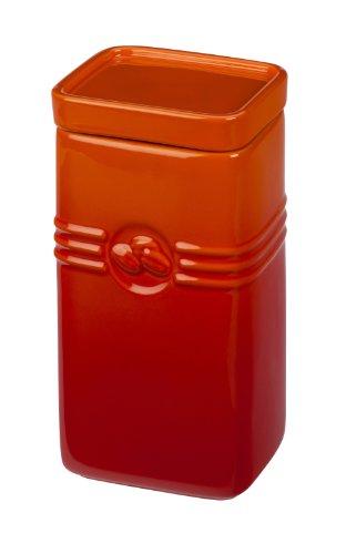 Le Creuset PG8004-112 Stoneware Coffee Storage Jar, 2-Quart, Flame