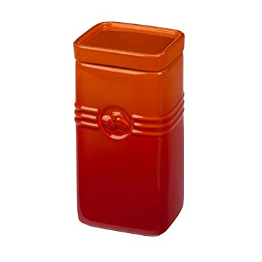Le Creuset Stoneware 2-Quart Coffee Storage Jar, Flame