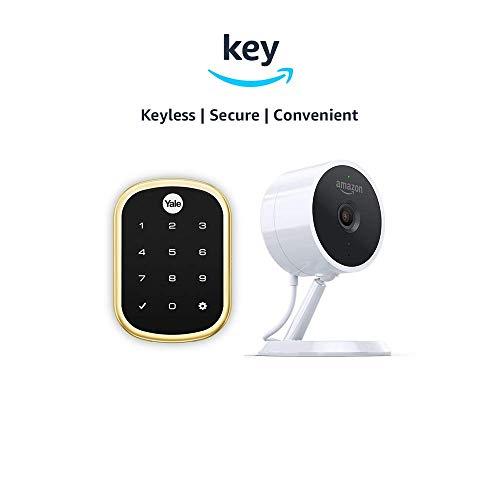 Yale Assure YRD256 SL Key Free Touchscreen Deadbolt Amazon Cloud Cam Key Smart Lock Kit Polished Brass