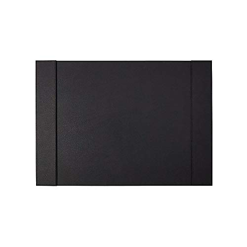 Staples 2741550 Refillable Faux Leather Desk Pad 24-Inch L X 17-Inch W Black - Faux Desk Leather Accessories