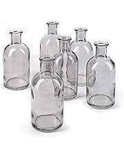 """Serene Spaces Living Medicine Bottle Bud Vases, Antique Glass Bottles, 5.25"""" Tall & 2.5"""" in Diameter"""