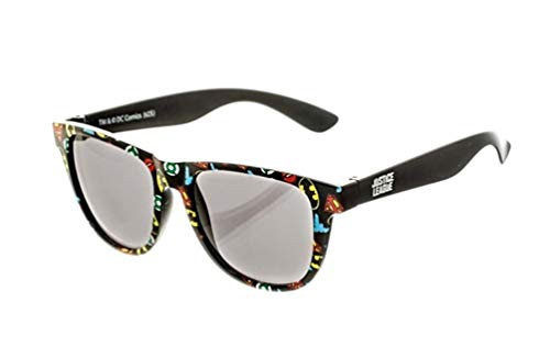 bioWorld DC Comics All Over Print Logo Sunglasses with Soft Pouch -