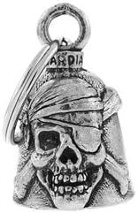 Campanilla de Calavera Pirata de la Suerte Moto Guardian Bell