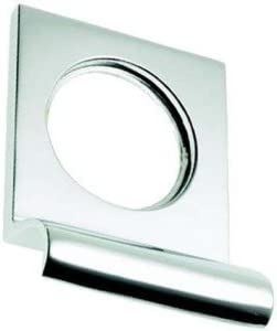 Door Pull BC106 Polished Chrome Victorian Rounded Yale Lock Surround