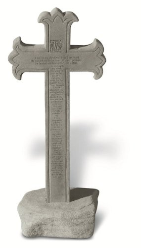 KayBerry Cast Stone Pedestal Cross Obelisk base 23rd
