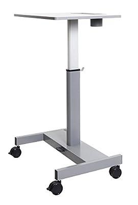 Luxor STUDENT-P Student Pneumatic Adjustable Height Sit/StandDesk - Light Gray/Medium Gray