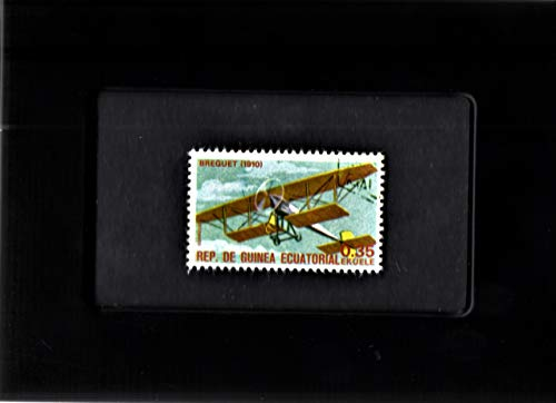 Framed Stamp Art - Collectible Postage Stamp - 1910 Breguet Bi-Plane ()