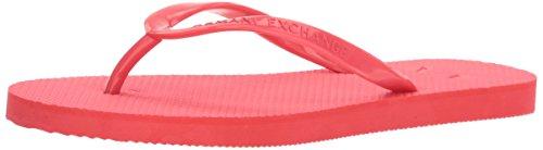 A | X Armani Exchange Femme Classique Hache Flip-flop Rose Corail