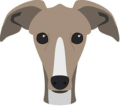 Italian Greyhound Puppies - Cute Sweet Adorable Puppy Dog Head Breed Cartoon Vinyl Sticker (2