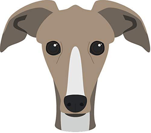 Cute Sweet Adorable Puppy Dog Head Breed Cartoon Vinyl Sticker (4