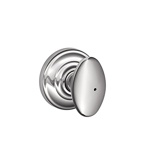 Schlage Siena Privacy Knob, Andover Rose, Bright Chrome ()