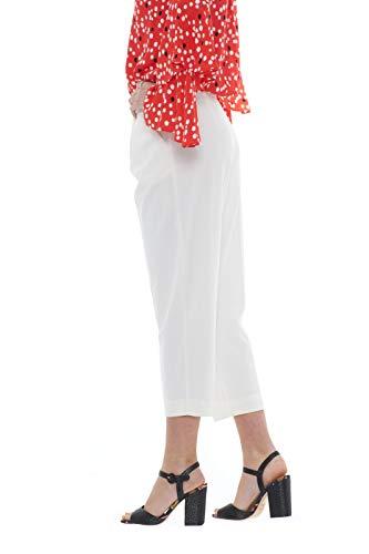Pepe Les Patrizia Femme Avec Plis Pantalon Blanc Fissures 7x7rIq1w