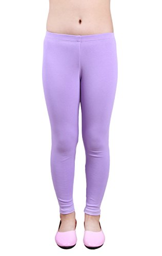 IRELIA Girls Cotton Ankel Length Solid Leggings for School or Play