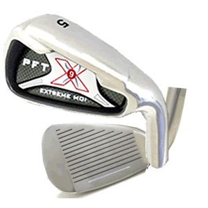 PFT X9 High Moi Extreme 9 Iron Set Golf Clubs Custom Made Right Hand Stiff S Flex Steel Shafts Complete Mens Irons Ultra Forgiving OS Oversized Wide Sole Ibrid Club by PFT X9 (Image #7)