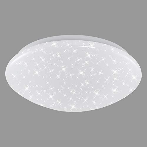 Briloner Leuchten – Led-plafondlamp, plafondlamp met sterrendecoratie, 12 W, 1.200 lumen, 4.000 Kelvin, wit, Ø28 cm