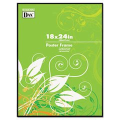 DAX N16018BT Coloredge Poster Frame with Plexiglas Window, 18 x 24, Clear Face/Black Border (Face Posters)