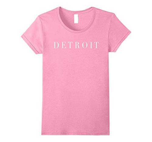 Michigan Womens Pink T-shirt - Womens Detroit Michigan Gift Tee Shirt Apparel for Men, Women &Kids Medium Pink