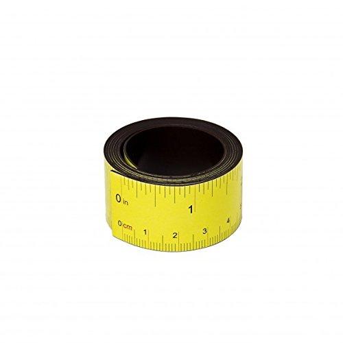MTS Magnete - Metro a nastro magnetico, 100 cm, colore: Giallo