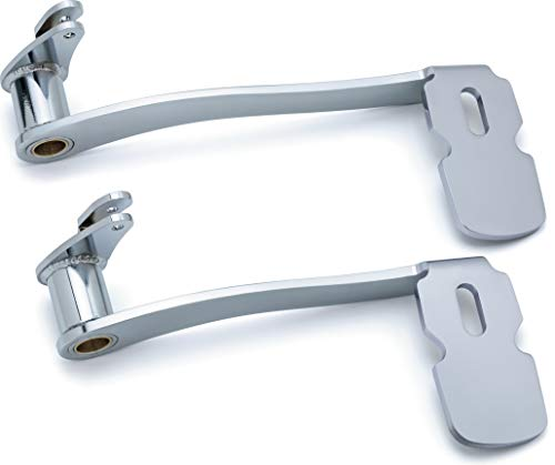 Kuryakyn 9670 Extended Brake Pedal without Fairing Lowers: 2014-19 Harley-Davidson Touring and Trike Motorcycles, Chrome