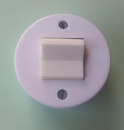 alter Lichtschalter weiß Doppelschalter Aufputz Kippschalter DDR