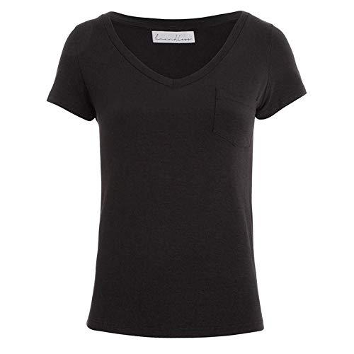 T-Shirt Modal Preta Bolso