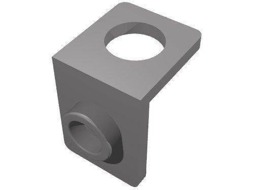 Lego Parts: Minifigure Neck Bracket with Back Stud (DBGray)