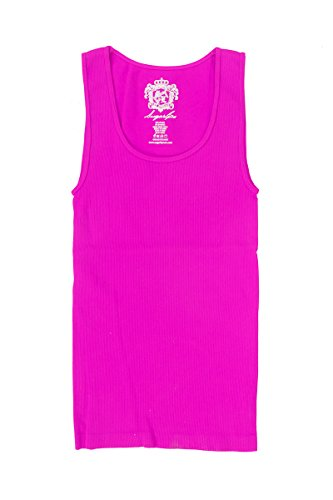 Kids Ribbed Seamless Tank Top_Rose Pink_one size (Sugar Ribbed Lips)