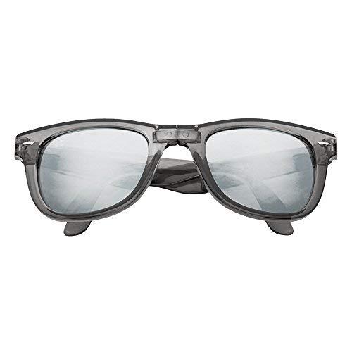 8bfdef70f2a8 LAGO TERRA Wayfolder Folding Wayfarer Sunglasses - Grey Smoke   Silver  Mirror  Amazon.co.uk  Clothing